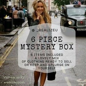 6 piece Mystery Box for Brand Category Resellers